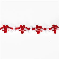 "5/8"" Amy Woven Flower Trim Red"