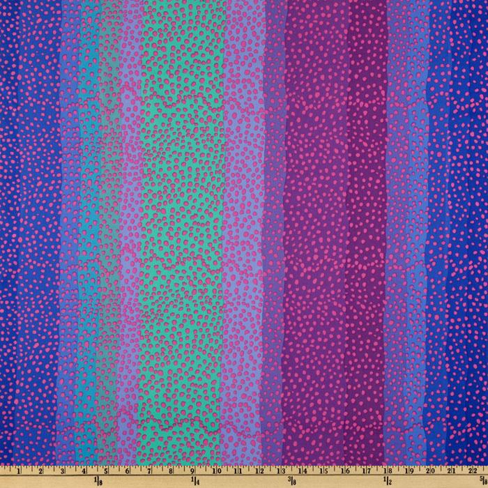 Kaffe Fassett Collective 2010 Blue Ombre Stripe Blue