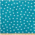 Shannon Minky Cuddle Prints Alotta Dots Teal