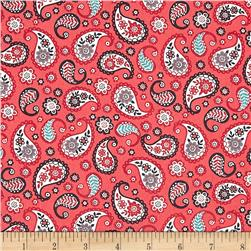 Papillon Paisley Red