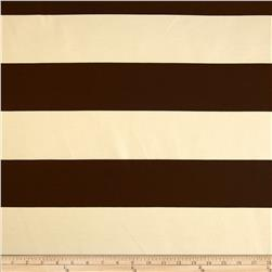 Morgan Wide Stripe Natural/Chocolate Fabric