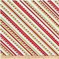 Purely Christmas Bias Stripe Cream