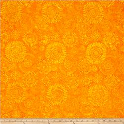 Timeless Treasures Tonga Batik Happy Hour Kaleidoscope Medallion Citrus