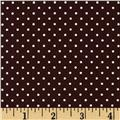 Riley Blake Swiss Dots Brown/White