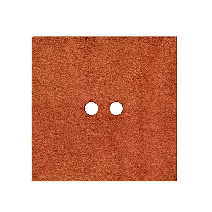 2'' Leather Button Square  Pink