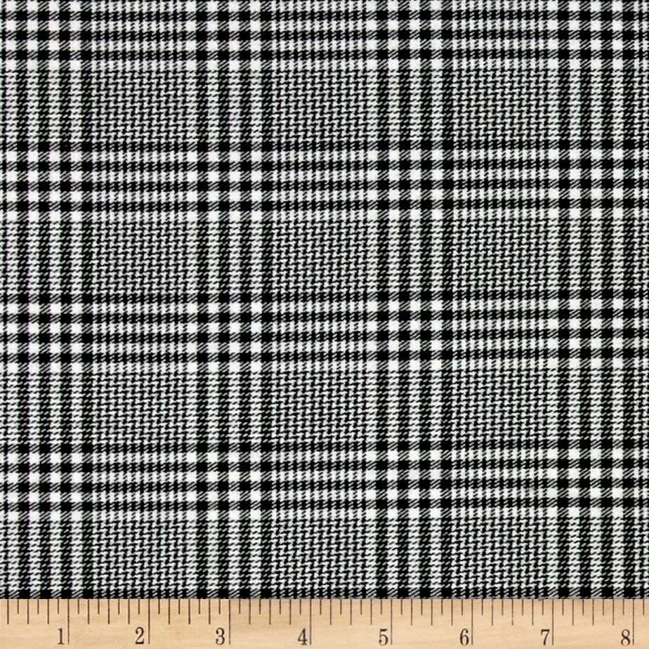 Nirvana Stretch Plaid Suiting Black/Ecru