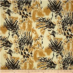Jungle Safari Broadcloth Tiger Gold/Black/Brown