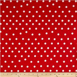 Flannel Large Dot Red/White