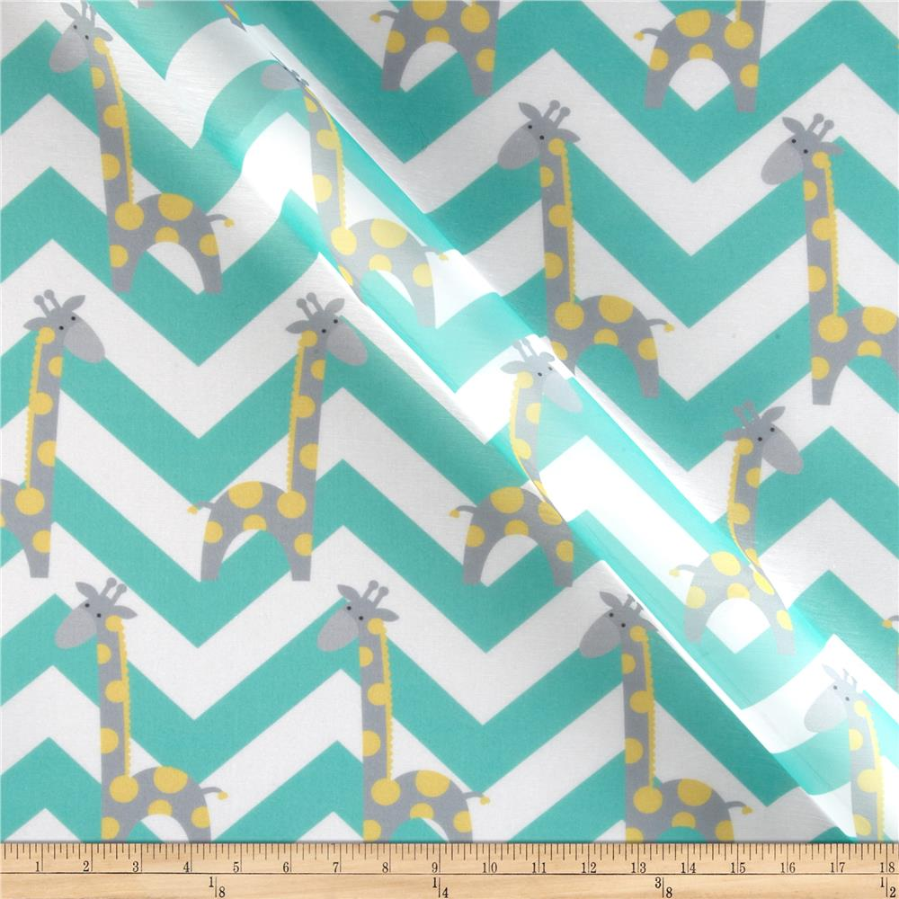 RCA Giraffe Chevron Sheers Grey/Lemon