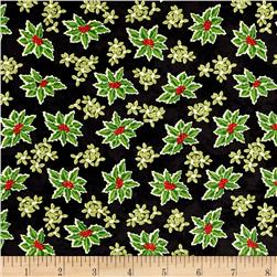 Winter Bliss Holly Allover Black