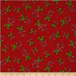 Reindeer Magic Candy Cane Toss Red