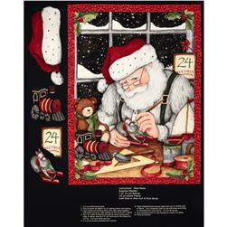 Christmas Busy Santa Panel Multi