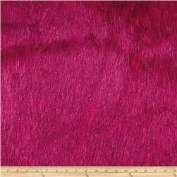 Faux Fur Electric Shag Hot Pink