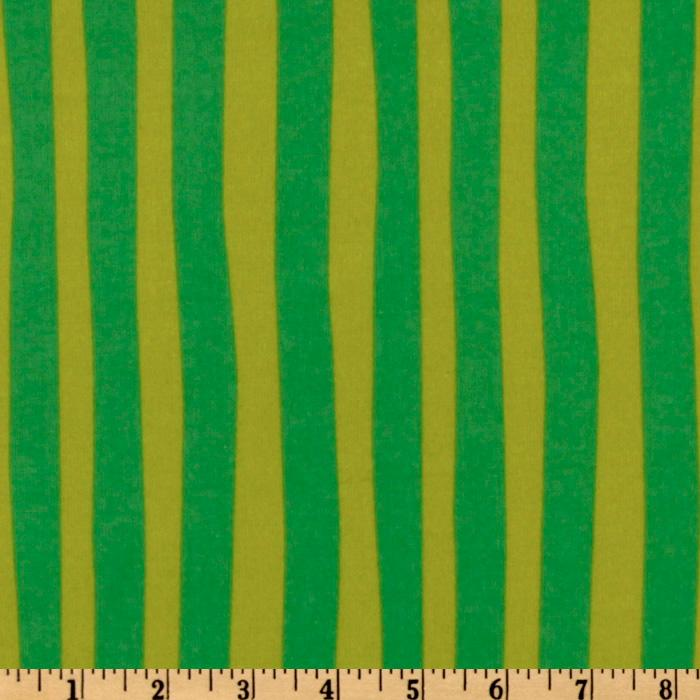 Kaufman How The Grinch Stole Christmas Flannel Stripe Grass