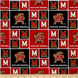 Collegiate Cotton Broadcloth University of Maryland Red