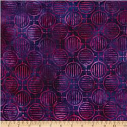 Artisan Batiks Geo Scapes Circle Plaid Fuchsia