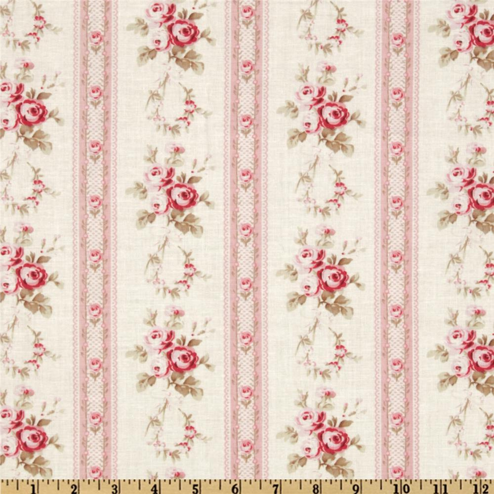 Petal Antique Ticking Roses Pink
