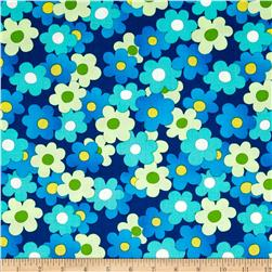 Daisy Mae Medley Floral True Blue Fabric