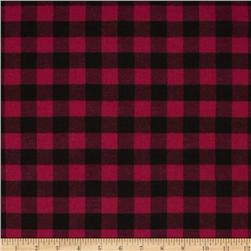 Yarn Dyed Flannel Plaid Pink/Black