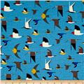 Birch Organic Maritime Interlock Knit Maritime Birds Multi