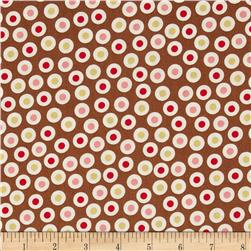 Zoe & Zack Circle Dots Brown/Pink