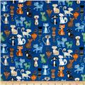 Crafty Cats Cat Crowd Blue