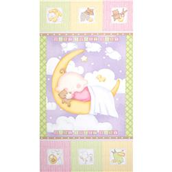 "Sweet Pea Sleepytime 24"" Panel Pink"