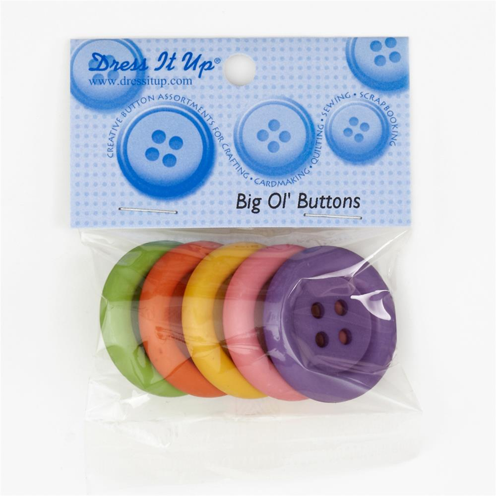 Dress It Up Embellishment Buttons Big Ol Buttons