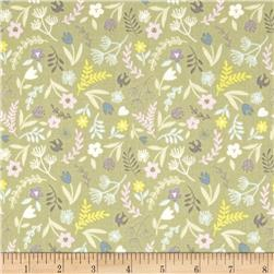 Lewis & Irene Salisbury Spring Swallows & Blooms Green
