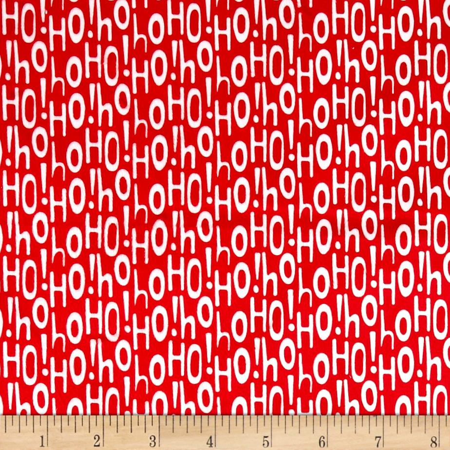 Michael Miller Minky Holiday Row Holiday Ho Red