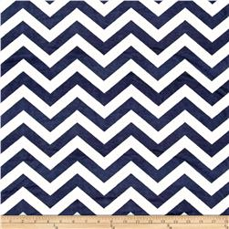 Minky 3/4'' Chevron White/Navy