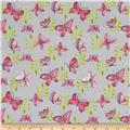 Flutter Tossed Butterflies Grey