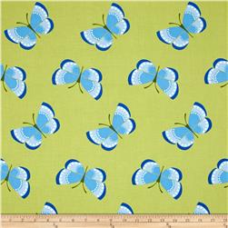 Jane Sassaman Cool Breeze Butterflies Blue