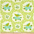Heather Bailey Up Parasol Mockingbird Chartreuse