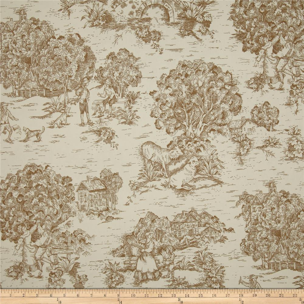 Magnolia Home Quaker Toile Driftwood Brown
