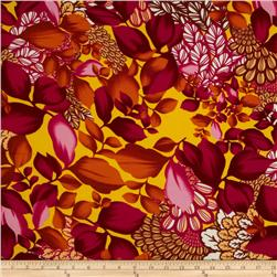 Van Gogh Rayon Challis Collage Gold