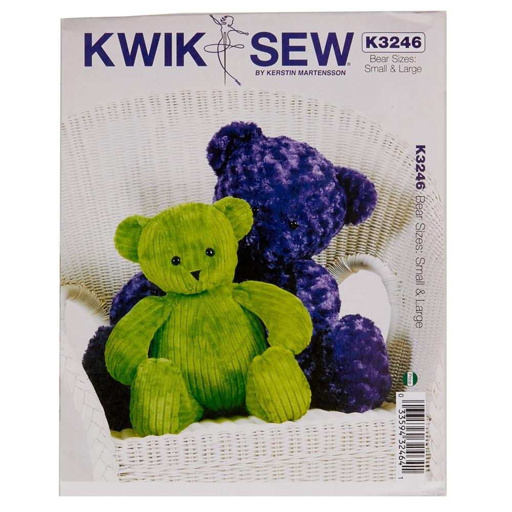 Kwik Sew Teddy Bears Pattern