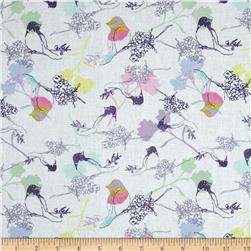 Belle Uccello Birds on Branches White