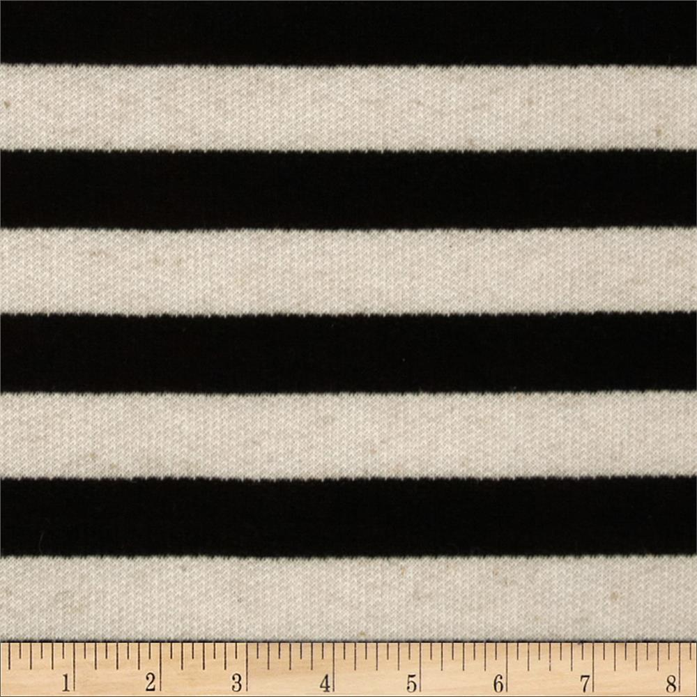 Pique Knit Stripes Ivory/Black