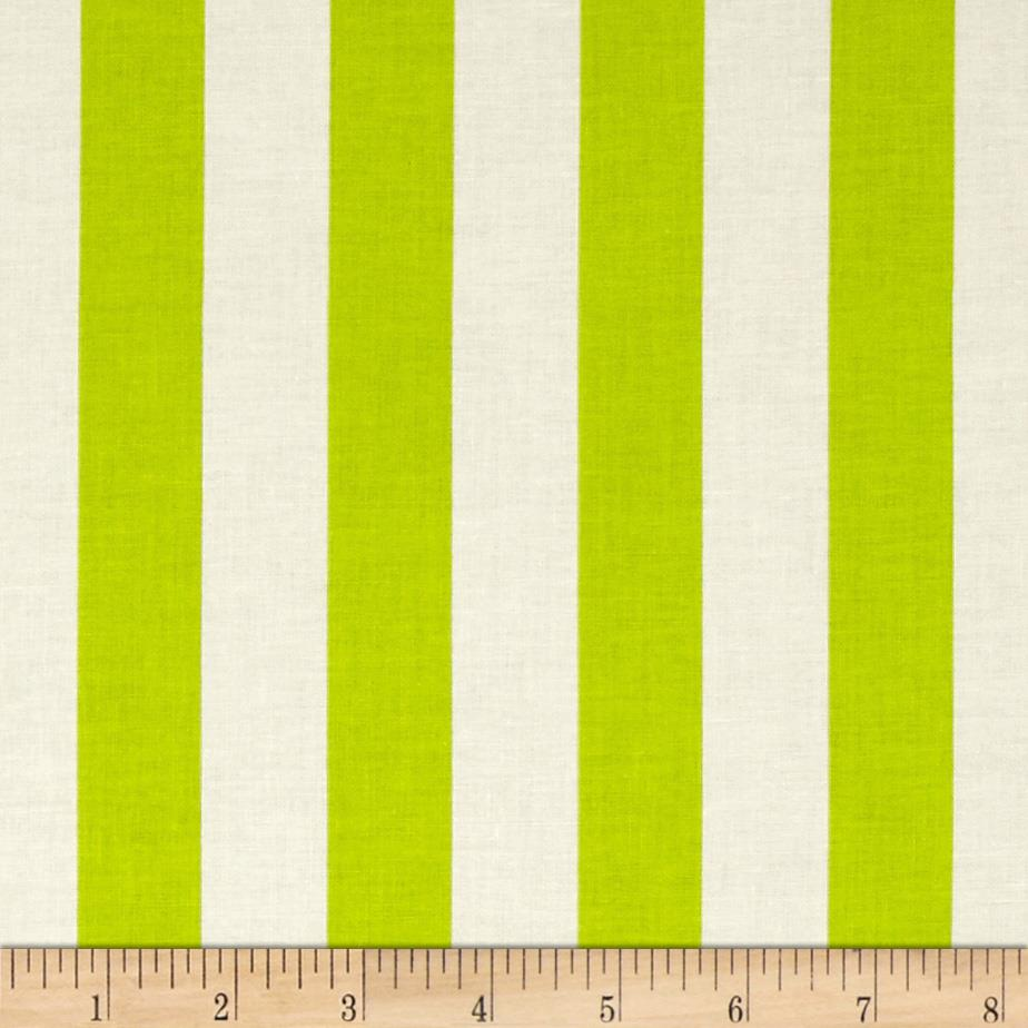"Riley Blake Le Creme Basics Medium 1"" Stripe Lime/Cream"