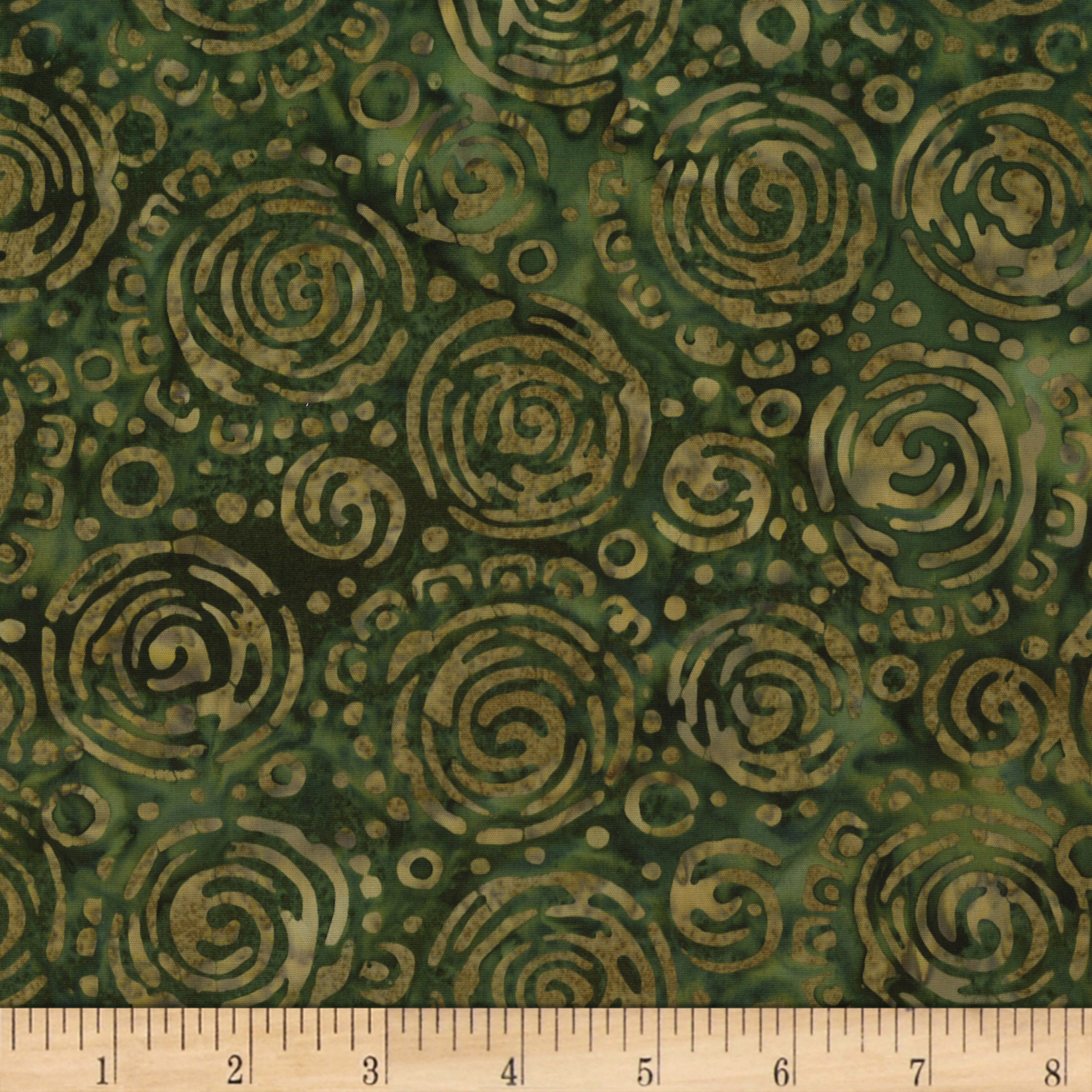 INOpets.com Anything for Pets Parents & Their Pets River Falls Green Circle Batik Green Fabric