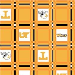 Collegiate Tailgate Vinyl Tablecloth University of Tennesse Orange/White