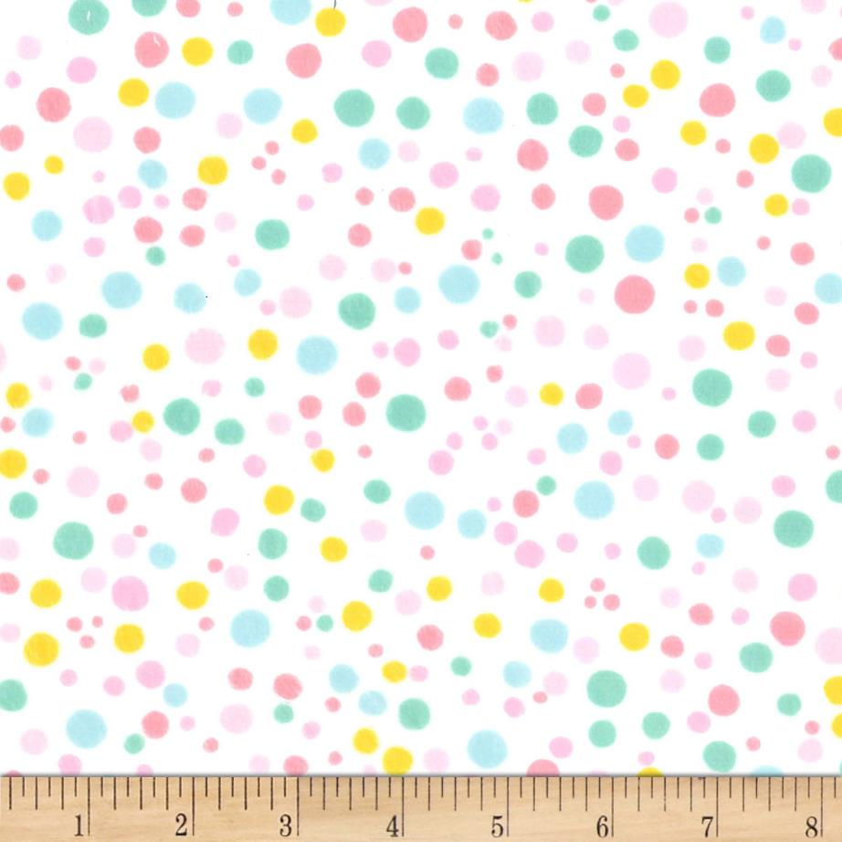 Michael Miller Minky Bunny Bunch Dabble Dot Pink