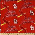 MLB Fleece St. Louis Cardinals Allover Red