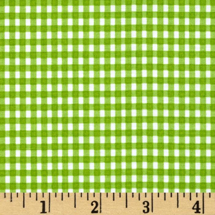 Moda Celebration Gingham Check Green