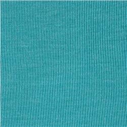 Rayon Baby Rib Knit Turquoise Fabric