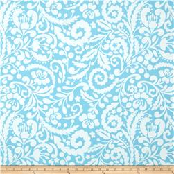 Dena Designs Tea Garden Home Decor Sateen Silhouette Blue