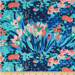 Amy Butler Violette Meadow Blooms Midnight Fabric