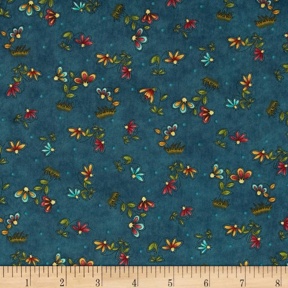 Clearwater Critters Flowers Teal