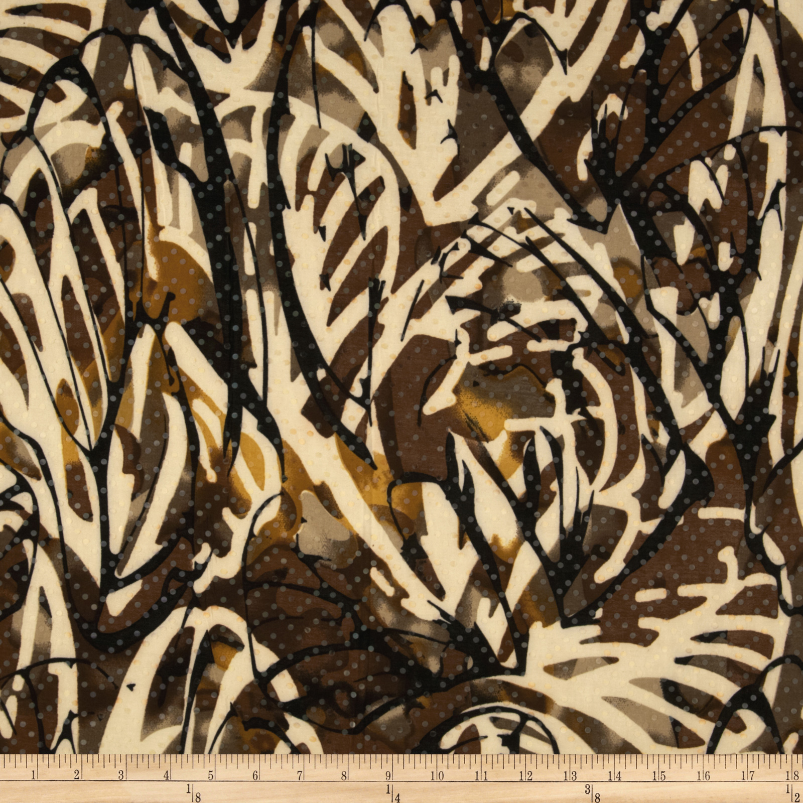 Stretch ITY Jersey Knit Shimmer Animal Brown/Cream Fabric